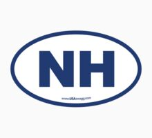 New Hampshire NH Euro Oval BLUE by USAswagg2