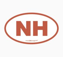 New Hampshire NH Euro Oval ORANGE by USAswagg2