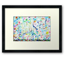 ELEPHANT in WATERCOLORS Framed Print