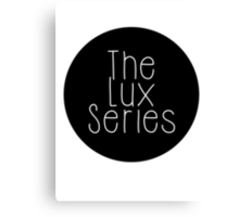 The Lux Series - Black Circle Canvas Print