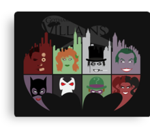 Gotham Villains Canvas Print