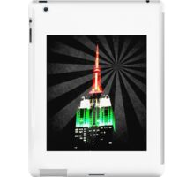 The Empire State Building on a warm summer night iPad Case/Skin