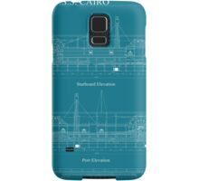 USS Cairo Gunboat Blueprint Samsung Galaxy Case/Skin