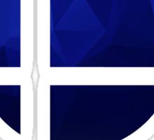 Super Smash Bros. Logo - Blue EVO Style Sticker