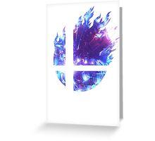 Super Smash Bros. Logo - Blue Greeting Card