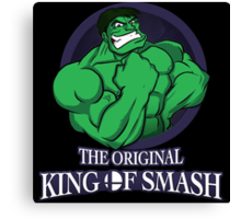 The Original King of Smash (Green Edition) Canvas Print