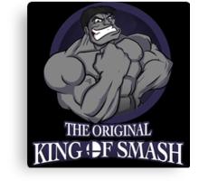 The Original King of Smash (Grey Edition) Canvas Print