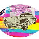 Vintage Car Tee by Bec Schopen