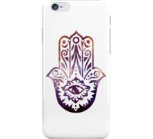 Purple Orange Fatima Hand Hamsa iPhone Case/Skin