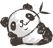 Panda that is relaxing by Toru Sanogawa