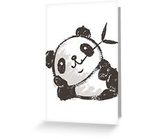 Panda that is relaxing Greeting Card