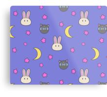 Sailor Moon R inspired Chibusa Luna-P Bedspread Blanket Print SuperS Version Metal Print