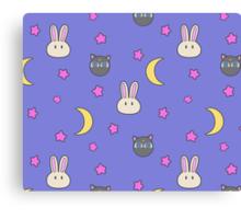 Sailor Moon R inspired Chibusa Luna-P Bedspread Blanket Print SuperS Version Canvas Print