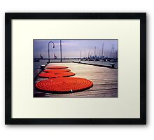 Rope Circles on jetty, Williamstown Framed Print
