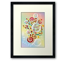 Explosion of colors - illustration of colorful shapes and bubbles Framed Print