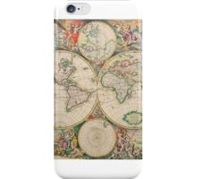 Antique Map of the world (Part of a set) iPhone Case/Skin