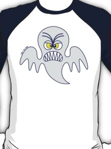 Scary Halloween Ghost Emoticon T-Shirt