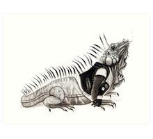 God Save the Iguana Art Print