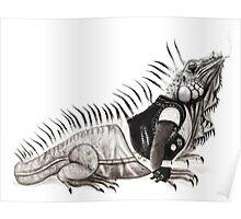 God Save the Iguana Poster