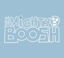 The Mighty Boosh – White Stencilled Writing & Mask Kids Clothes