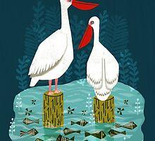 Pelicans by Andrea Lauren  by Andrea Lauren