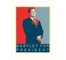 The West Wing: Bartlet for President T-Shirt Art Print