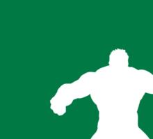 My Superhero 01 Angry Green Minimal poster Sticker