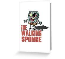 The Walking Spongebob - Walking dead Greeting Card