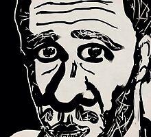 Self-portrait/(3 of 3) -(031014)- Digital artwork: Zen Brush by paulramnora