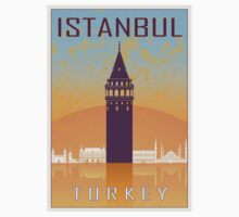 Istanbul vintage poster Kids Clothes