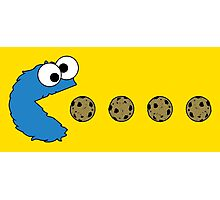 Cookie Monster Pacman Photographic Print