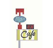 Twin Peaks Double R Diner RR Photographic Print