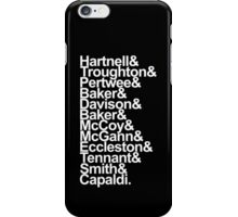 Doctor Who actor's names (Black) iPhone Case/Skin