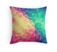 Abstract Polygon Multi Color Cubism Triangle Design Throw Pillow