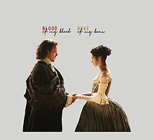 "Outlander - Jamie x Claire ""Blood of my blood..."" by D. Abdel."