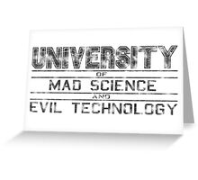 University of Mad Science and Evil Technology - Classic Greeting Card