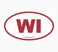 Wisconsin WI Euro Oval RED Kids Clothes