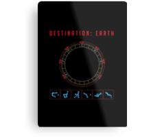 Destination Earth chevron symbols Metal Print