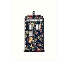 Floral TARDIS Art Print