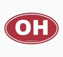 Ohio OH Euro Oval RED by USAswagg2