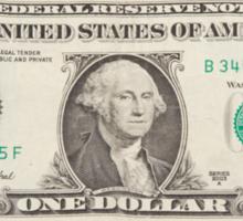 American One Dollar Bill Sticker
