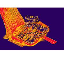 Broom Sweeping Up American Currency Pop Art Photographic Print