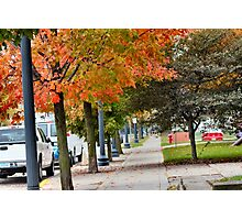Library in Fall Photographic Print