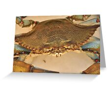 Big Blue Claw Crab, As Is Greeting Card