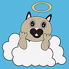 Angel Cat on Cloud by ValeriesGallery