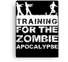Training For The Zombie Apocalypse T Shirt Canvas Print