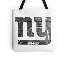 New York Giants Stadium Black and White Tote Bag