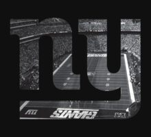 New York Giants Stadium Black and White by Josh Eisenmann
