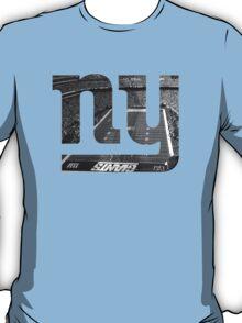New York Giants Stadium Black and White T-Shirt