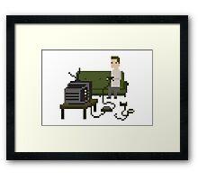 Gamer Pixel Art Framed Print